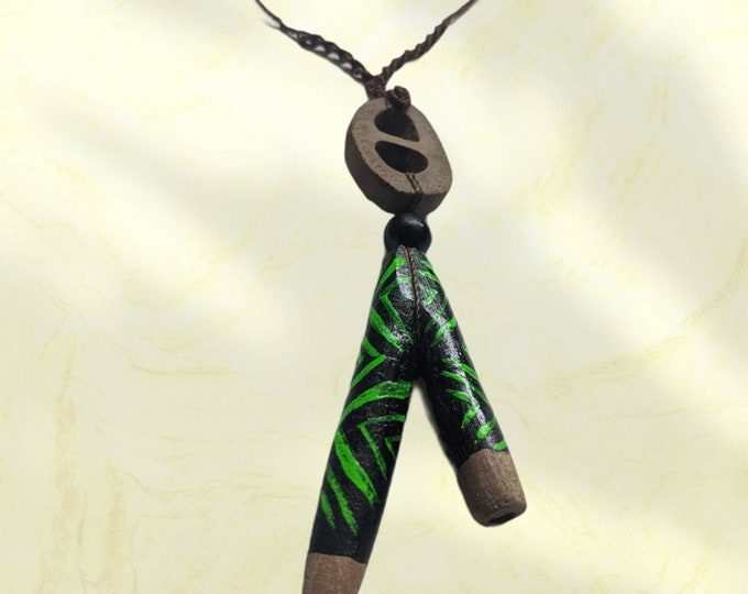 KURIPE TEPI  pendant natural fiber woven braided necklace