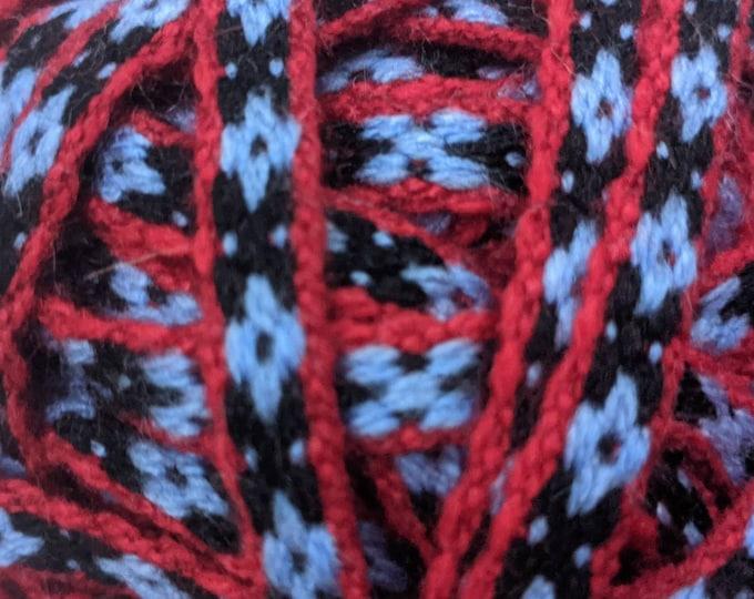 5 meters Andean INKA PERUVIAN Bohemian wool woven ribbon  Handmade by loom 3/8 in /0.9 cm