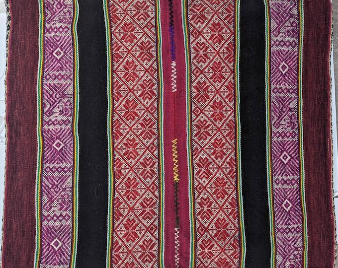 ANDEAN Qero CLOTH Inka inspired original handmade by loom Cuzco tribal geometric shamanic tapestry for Misha qepi