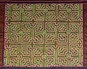 Large SHIPIBO Xao Kene Kewe ancestral milenial information Authentic tapestry