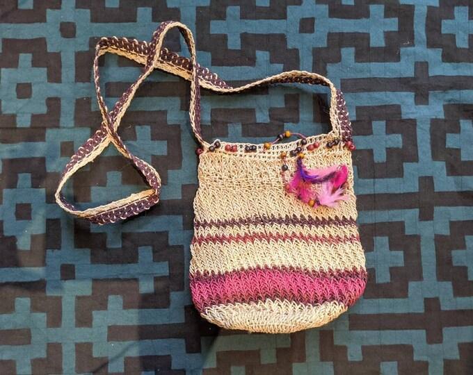 HEMP HANDBAG ecofriendly handmade with  CHAMBIRA fibers boho hippie style