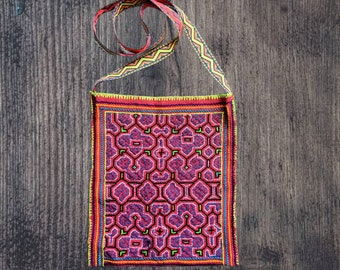 AYAHUASCA Ikaro MEDICINE BAG  fully embroidered  Amazonian  plant medicine Aya handbag for spiritual shamanic  healing tools