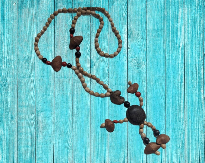 Authentic tribal SHIPIBO shamanic ceremonial  necklace .for ABUNDANCE Good Fortune ,Fertility and Protection