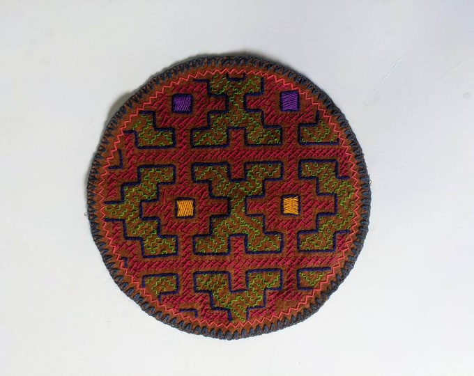 SHIPIBO ROUND PATCH  embroidered tapestry Xao Kene
