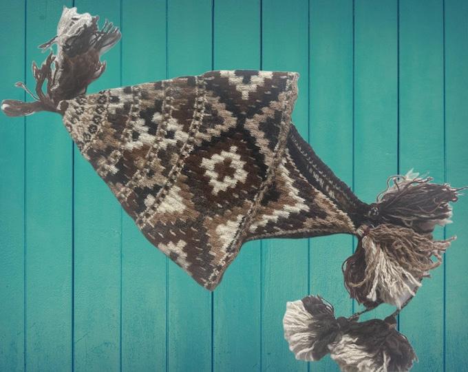 Authentic ANDEAN CUZCO Q'ERO Chakana  hat tuque Inka cross design