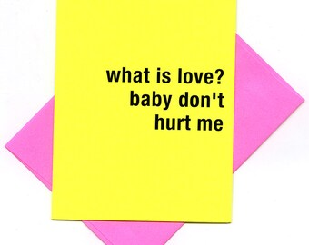 what is love? - bad attitude press - sassy, rude, awesome cards