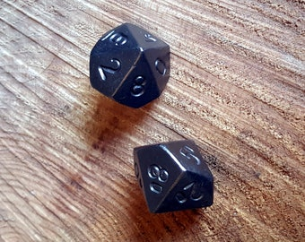 Hand forged D10, Metal Ten Sided Dice