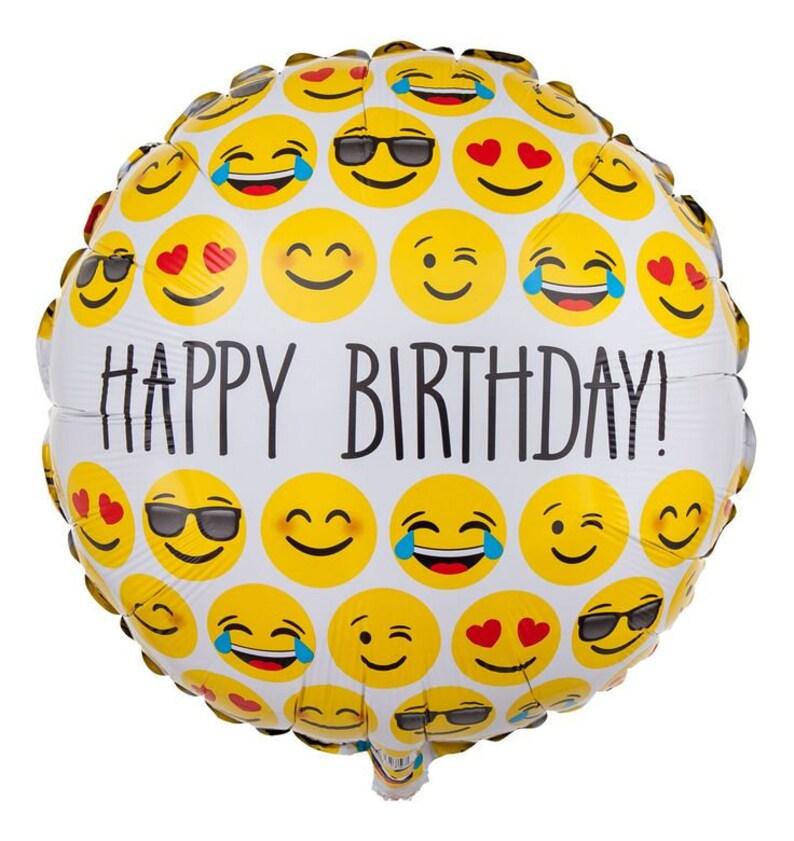 Happy Birthday Emoji Foil Balloon