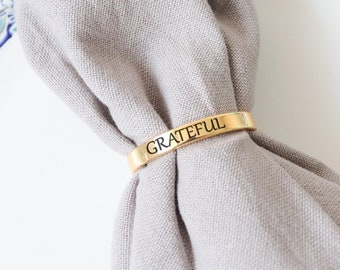 Thankful Napkin Ring Etsy