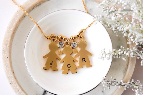 Kids name necklace, mom necklace with kids names, new mom necklace, mom and daughter necklace, mom son necklace, family necklace