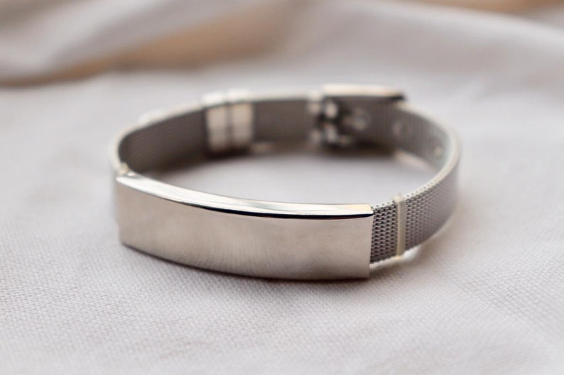 personalized mesh steel elegant allergy bracelet Emergency bracelet Medical alert bracelet diabetic bracelet medical Id bracelet woman