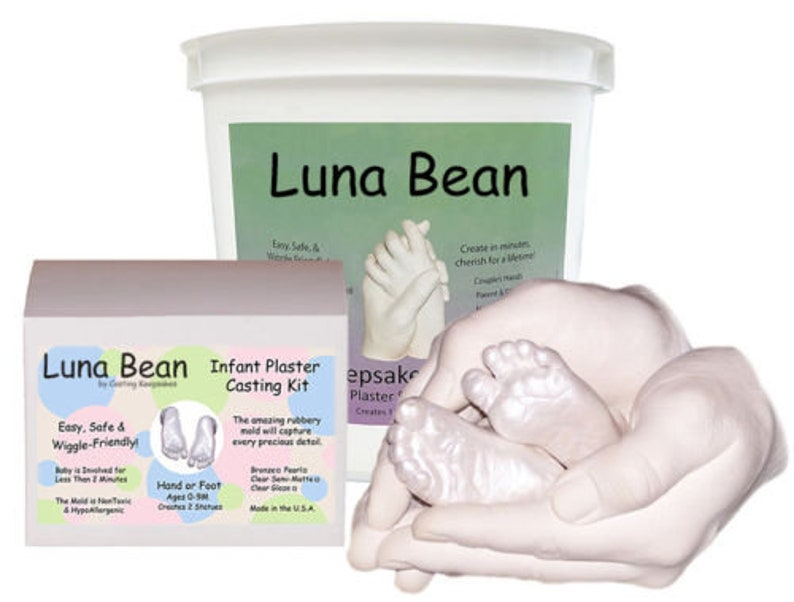 Luna Bean Dad MOM & Baby KEEPSAKE BUNDLE Set - Parent Child Casting Kit  Family, 3D Life Casting and Ctraft supplies