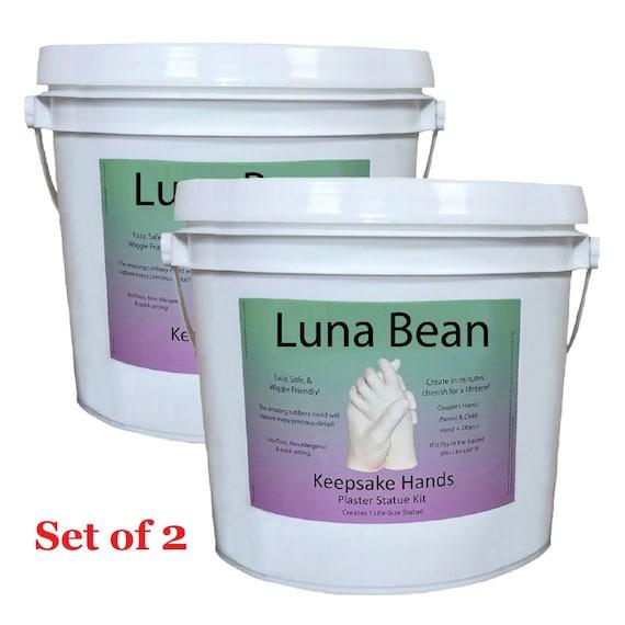 Luna Bean Keepsake XL plaster statue Kit Wedding Family Mom Baby Hands Mold USA
