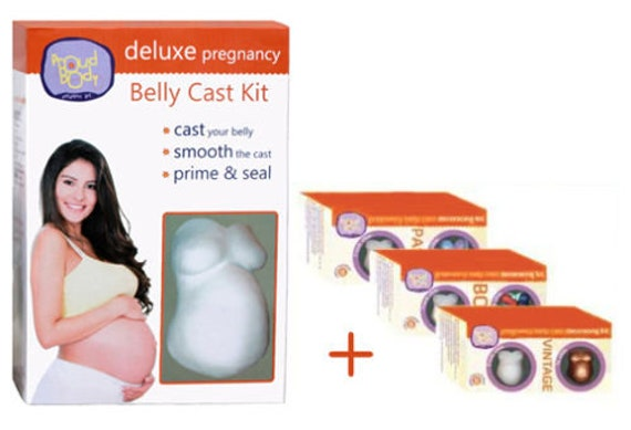 BOLD Blue Red Yellow Green Paint ProudBody Pregnancy Belly Cast DECORATING KIT