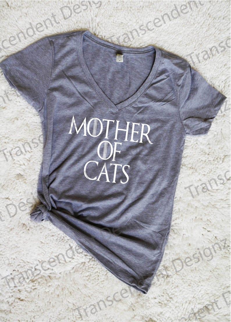 9eb7ea604e2 Mother Of Cats Shirt Cat Women Shirt Cat Lovers Shirt