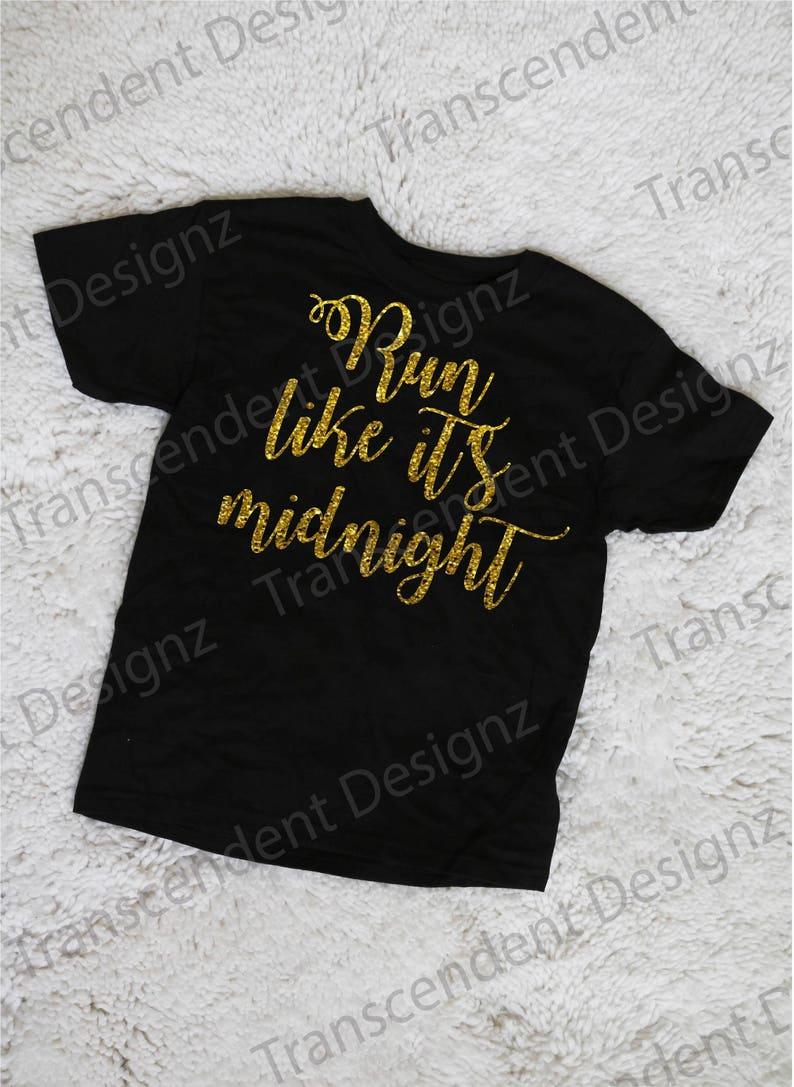 7e988fbfd Run Like It's Midnight Girls Graphic Tee Girls Graphic   Etsy