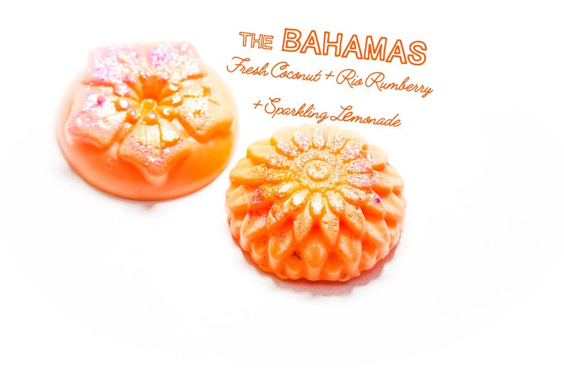 The Bahamas Wax Melts Sparkling Limeade Rio Rumberry Fresh Coconut Approx. 4 Oz
