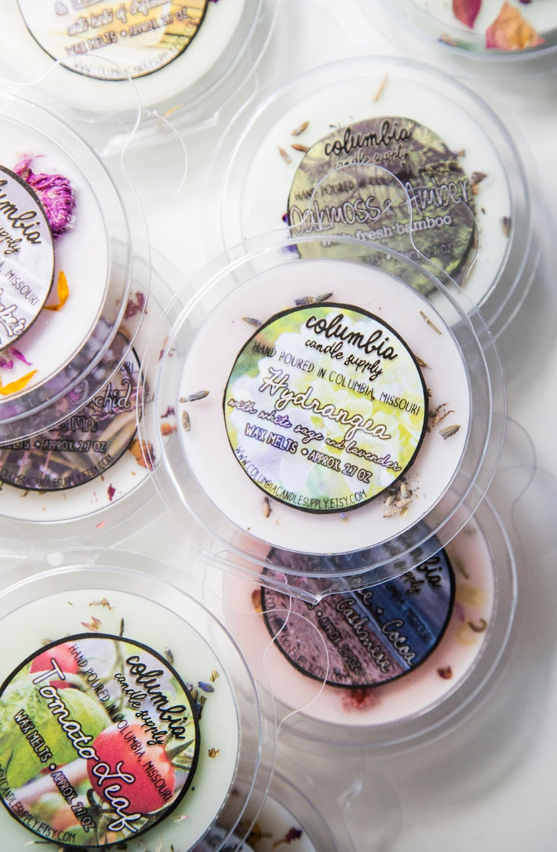 Approx. 2.7 Oz Sold Individually Herbal Collection Round Wax Melt Clamshells