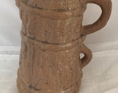 Vintage Pottery Double Handled Pitcher Jug - Histonia Pottery - Moira Pottery Stoneware - Histonia England Pottery - Water Pitcher
