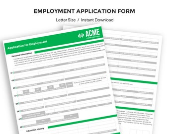Modern Employee Application Form