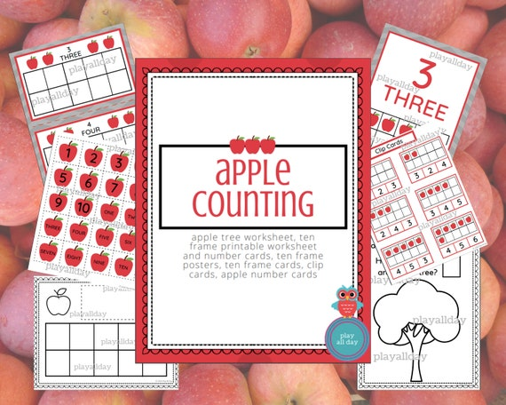 DIGITAL DOWNLOAD: Apple Counting Packet / Apple Printables