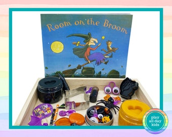 Personalized Halloween Play Dough Kit / Play Dough Box / Halloween / Playdough Kit / Homemade Play Dough / Loose Parts / Spooky / Witches