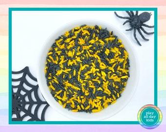 Halloween Rainbow Rice / Dyed Rice for Sensory Play / Sensory Rice / Sensory Bins / Sensory Filler / Halloween Sensory / I Spy Bottles