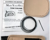 Tom Thumb Coin Purse Leather Craft Kit - Make Your Own Small Zipper Coin Wallet