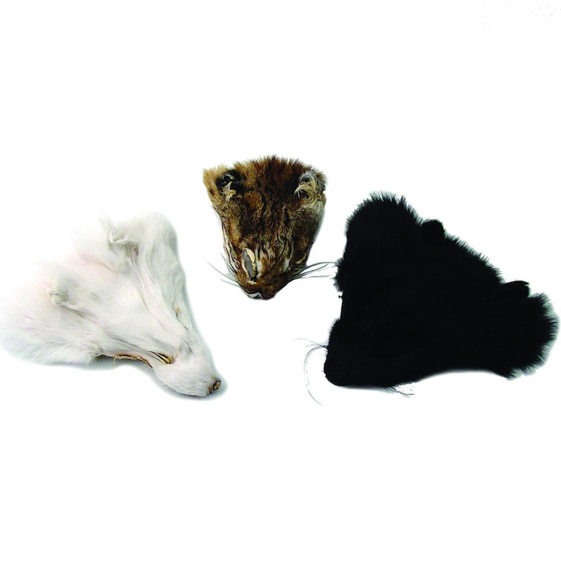 Authentic Black Fox Face - Genuine Fur Animal Face for Crafts and Costumes