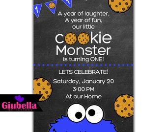 Cookie Monster Digital Invitation