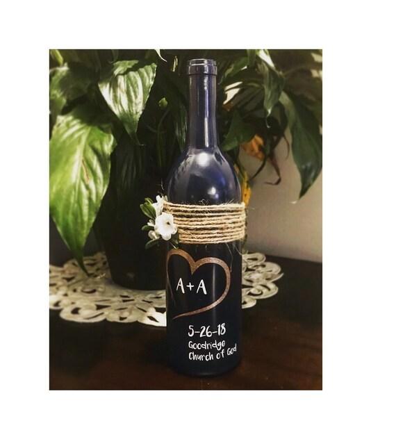 Customized Wine Bottle Wedding Gift Wine Bottle Art Wine Etsy