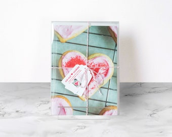 Recipe greeting card, Cut-Out Cookies, Heart Cookie, Blank inside, stationery set, mothers day, foodie gift, valentines