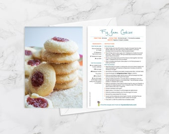 """Recipe Greeting Cards, """"You're my jam,"""" Card for foodies, friendship card, love card"""