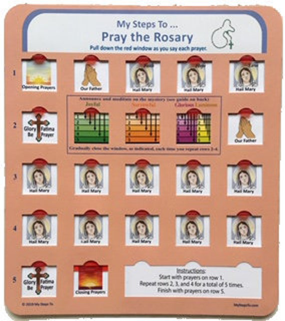 Array - my guide to pray the rosary with pull down red window sliders  rh   etsy com
