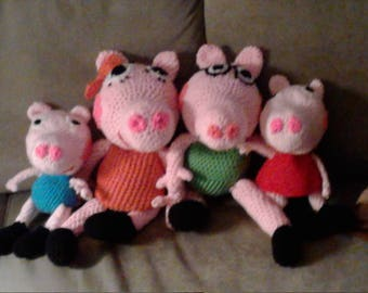Momma, Poppa,  Peppa and George Pig