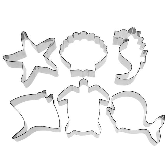 Ocean Whale Shark Dolphin baking fondant stainless steel cookie cutter set