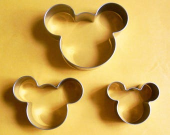 3 size Mickey Mouse Cookie Cutter Fondant Pastry Biscuit Baking Mold Set