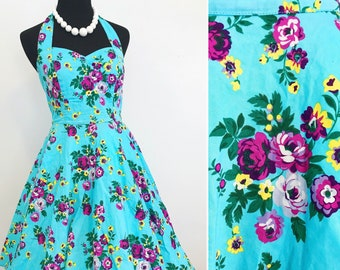 1950s Style Hell Bunny Pin Up Style Dress - Vintage Inspired Pin Up Dress - Hell Bunny Pin Up Dress