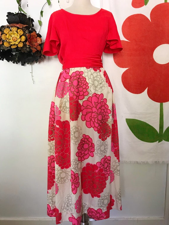 Vintage Alfred Shaheen 60s Maxi Dress - Alfred Sh… - image 5