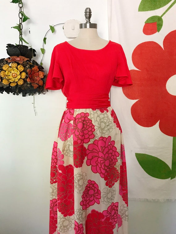 Vintage Alfred Shaheen 60s Maxi Dress - Alfred Sh… - image 2