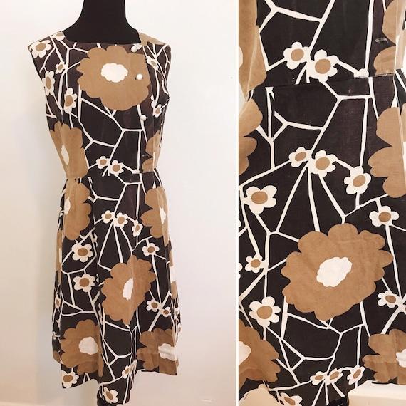 60s Vintage Mod Marimekko Inspired Romper Dress -