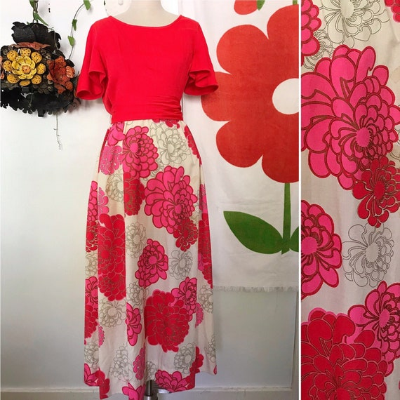 Vintage Alfred Shaheen 60s Maxi Dress - Alfred Sha