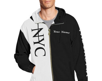 NYC Men's Personalized All City Hoodie 3.0 (Black)Brooklyn,Queens,Manhattan,Bronx,Staten Island,NYC Gifts,New York,