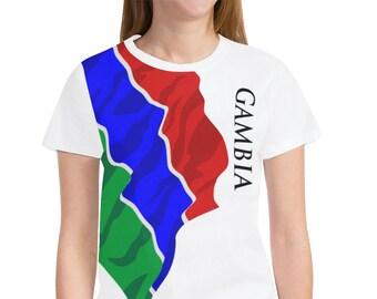 Gambia Ladies Classic Flag Tee 2.0