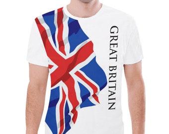 Great Britain Men's Classic Flag Tee Sh97eX