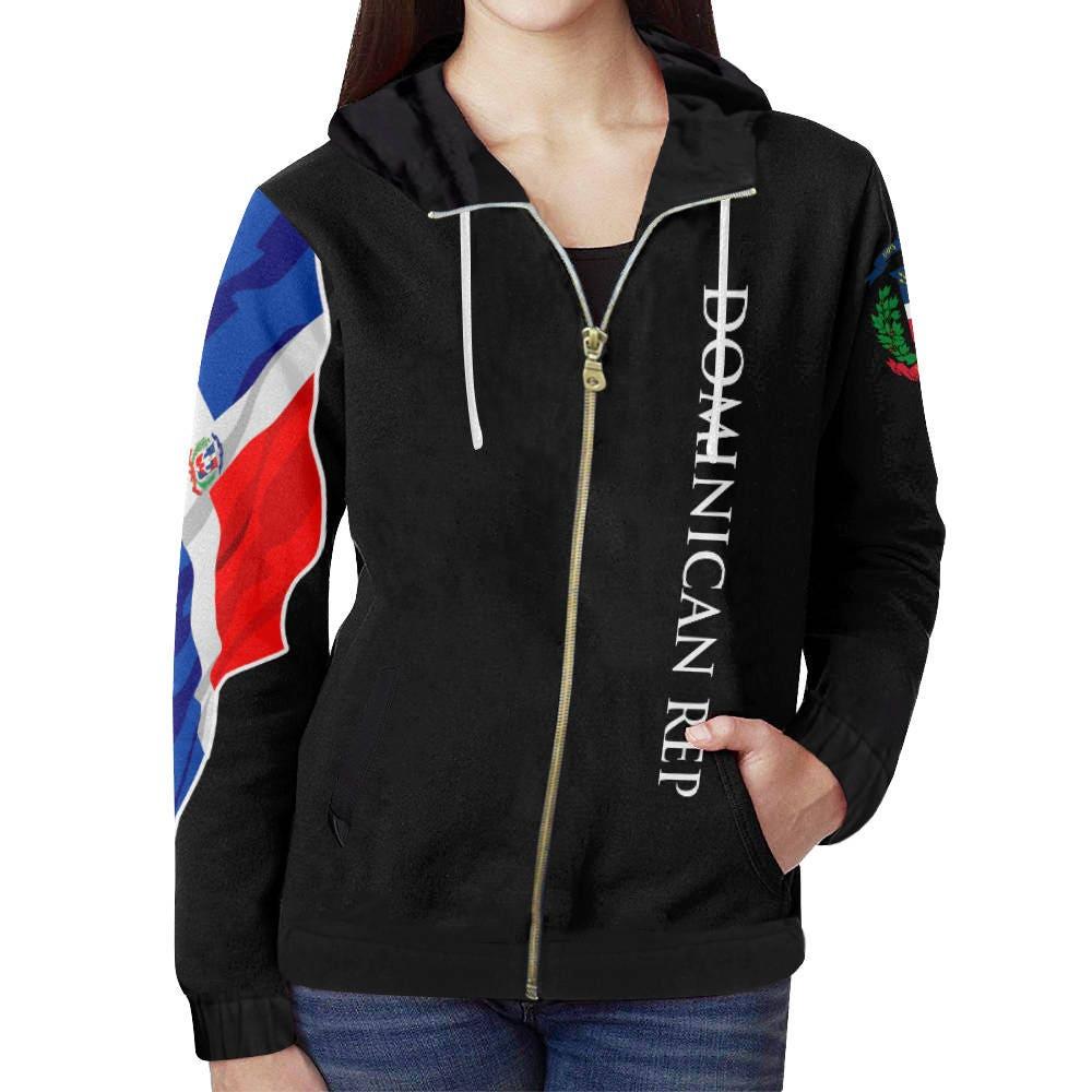 Dominican Republic Men's Custom Flag Hoodie 2.0, Republica Dominicana, Dominican Flag, Dominicana, Dominican clothing