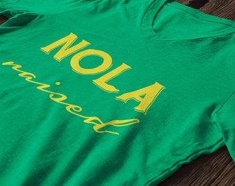 Women's mardi gras shirt - NOLA Raised ships immediately