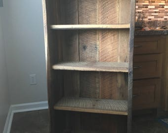 reclaimed wood bookcase rustic bookcase reclaimed book shelving - Reclaimed Wood Bookshelves