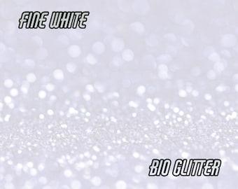 WHITE BIO GLITTER - Fine Grain -Biodegradable Glitter - Festival Glitter- Eco Friendly- Mermaid Glitter - Cosmetic Grade - Compostable -196