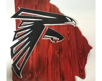 Atlanta Falcons wood sign 5f5a8d7e9